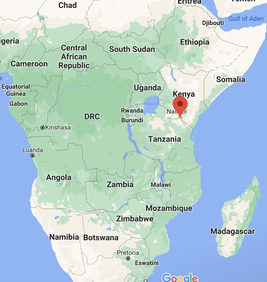 map showing location of kilimanjaro